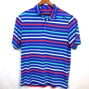 Vineyard Vines Blue Stripe Short Sleeve Polo Men